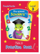 Load image into Gallery viewer, Purple Turtle Preschool Scholars Term 2 (Level 3) Practice Book