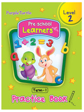 Load image into Gallery viewer, Purple Turtle Preschool Learners Term 1 Practice Book Level 2