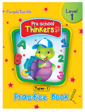 Load image into Gallery viewer, Purple Turtle Pre-school Thinkers Term 1 Level 1 Practice Book