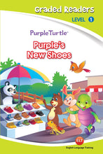 Load image into Gallery viewer, Purple's New Shoes - Purple Turtle