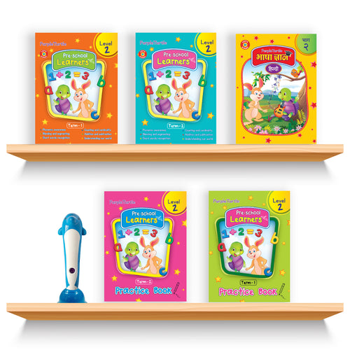 Purple Turtle Smart Preschool Talking Books with Talking Pen for LKG Kids