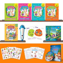 Load image into Gallery viewer, Purple Turtle Preschool Kit Level 2 with Talking Pen for LKG Age 4-5 year