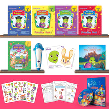 Load image into Gallery viewer, Purple Turtle Preschool Kit Level 3 with Talking Pen for UKG Age 5-6 year