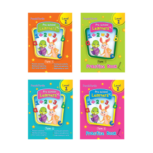 Purple Turtle Preschool books set for LGK kids Level 2