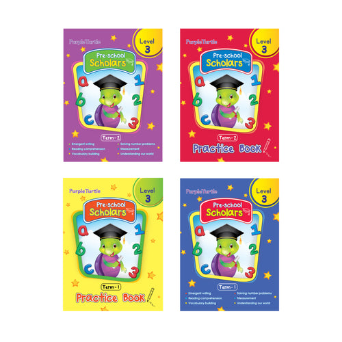 Purple Turtle Preschool books set for UKG kids Level 3