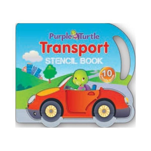 Purple Turtle Transport Stencil book