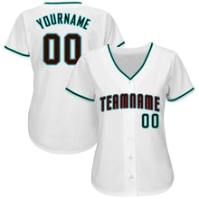 Load image into Gallery viewer, Custom White Black-Aqua Baseball Jersey