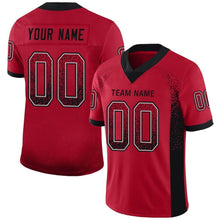 Load image into Gallery viewer, Custom Red Black-Gray Mesh Drift Fashion Football Jersey