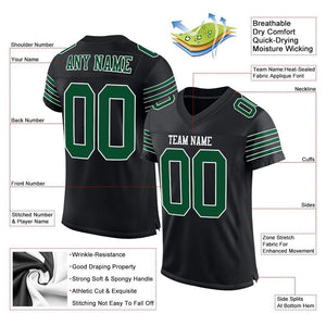 Custom Black Gotham Green-White Mesh Authentic Football Jersey