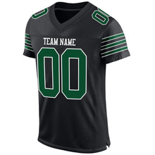 Load image into Gallery viewer, Custom Black Gotham Green-White Mesh Authentic Football Jersey