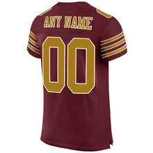 Load image into Gallery viewer, Custom Burgundy Orange-White Mesh Authentic Football Jersey
