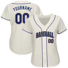 Load image into Gallery viewer, Custom Cream Royal-Gold Authentic Baseball Jersey