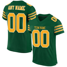Load image into Gallery viewer, Custom Gotham Green Gold-White Mesh Authentic Football Jersey