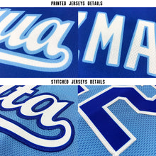 Load image into Gallery viewer, Custom Light Blue White-Royal Baseball Jersey