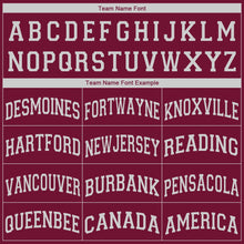 Load image into Gallery viewer, Custom Maroon White V-Neck Basketball Jersey