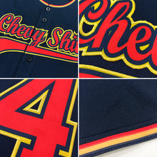 Load image into Gallery viewer, Custom Navy Gold Authentic Baseball Jersey