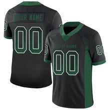 Load image into Gallery viewer, Custom Black Gotham Green-White Mesh Drift Fashion Football Jersey