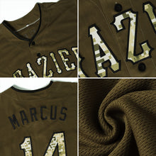 Load image into Gallery viewer, Custom Olive Camo-Black Authentic Salute To Service Baseball Jersey