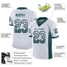 Load image into Gallery viewer, Custom White Midnight Green-Black Mesh Drift Fashion Football Jersey