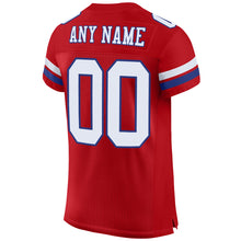 Load image into Gallery viewer, Custom Red White-Royal Mesh Authentic Football Jersey