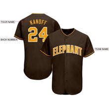 Load image into Gallery viewer, Custom Brown Gold-White Baseball Jersey