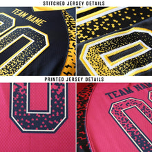 Load image into Gallery viewer, Custom Black Red-Old Gold Mesh Drift Fashion Football Jersey
