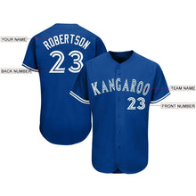 Load image into Gallery viewer, Custom Royal White Baseball Jersey