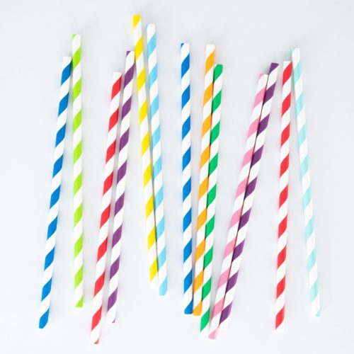 LONG LASTING PAPER STRAWS (SET OF 100)