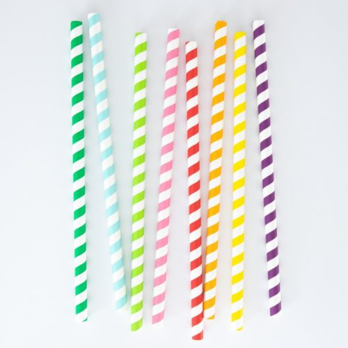 LONG LASTING EXTRA-WIDE PAPER STRAWS (SET OF 25)