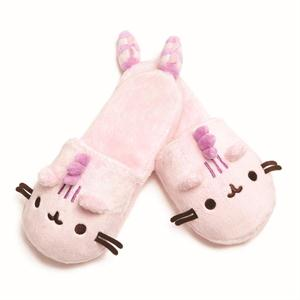 PUSHEENOSAURUS SLIPPERS, COTTON CANDY, ONE SIZE