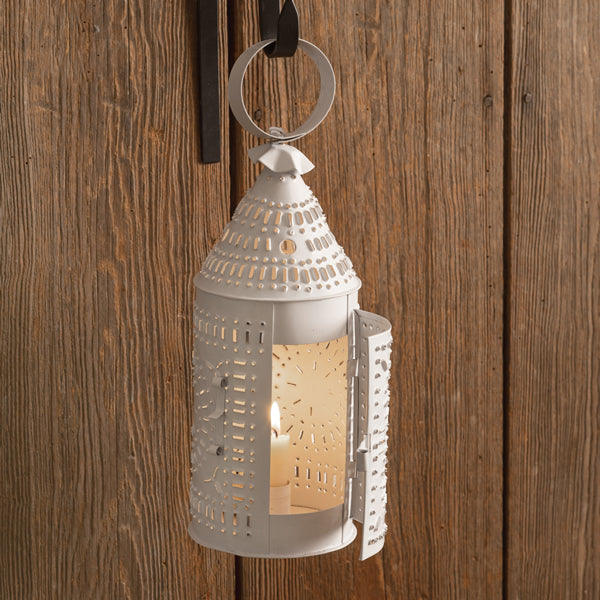 Paul Revere Candle Lantern - White