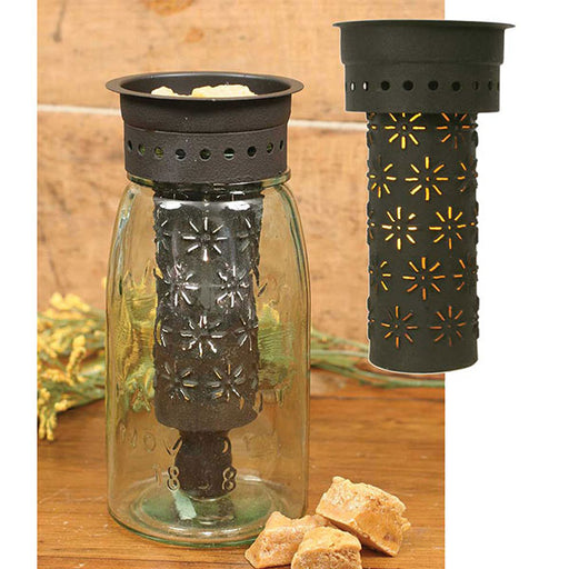 Punched Pinwheels Quart Mason Jar Wax Warmer Kit - Box of 4
