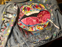 Handpainted Custom Denim Jacket
