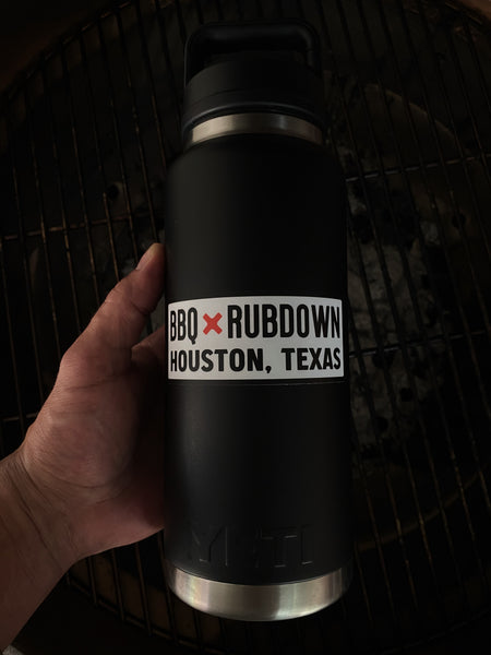 BBQ Rubdown Banner Logo Sticker