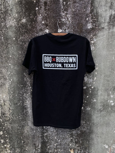 BBQ Rubdown Dual Logo Pocket Tee Back in Black