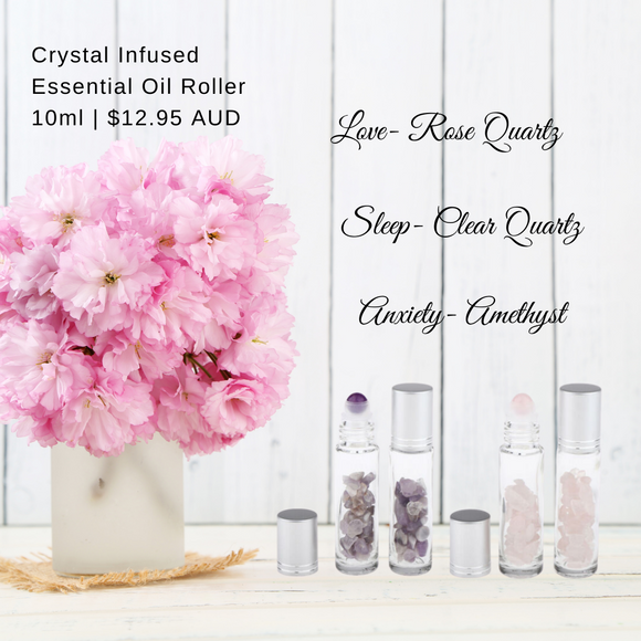 Crystal Infused Essential Oil Rollers