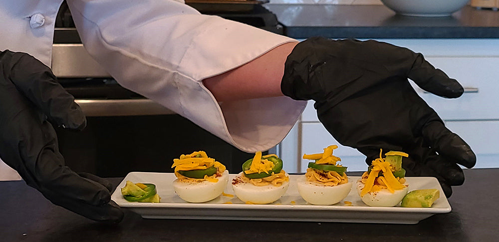 Healthy deviled eggs - made with care