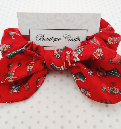 Christmas Stocking Bow Scrunchie