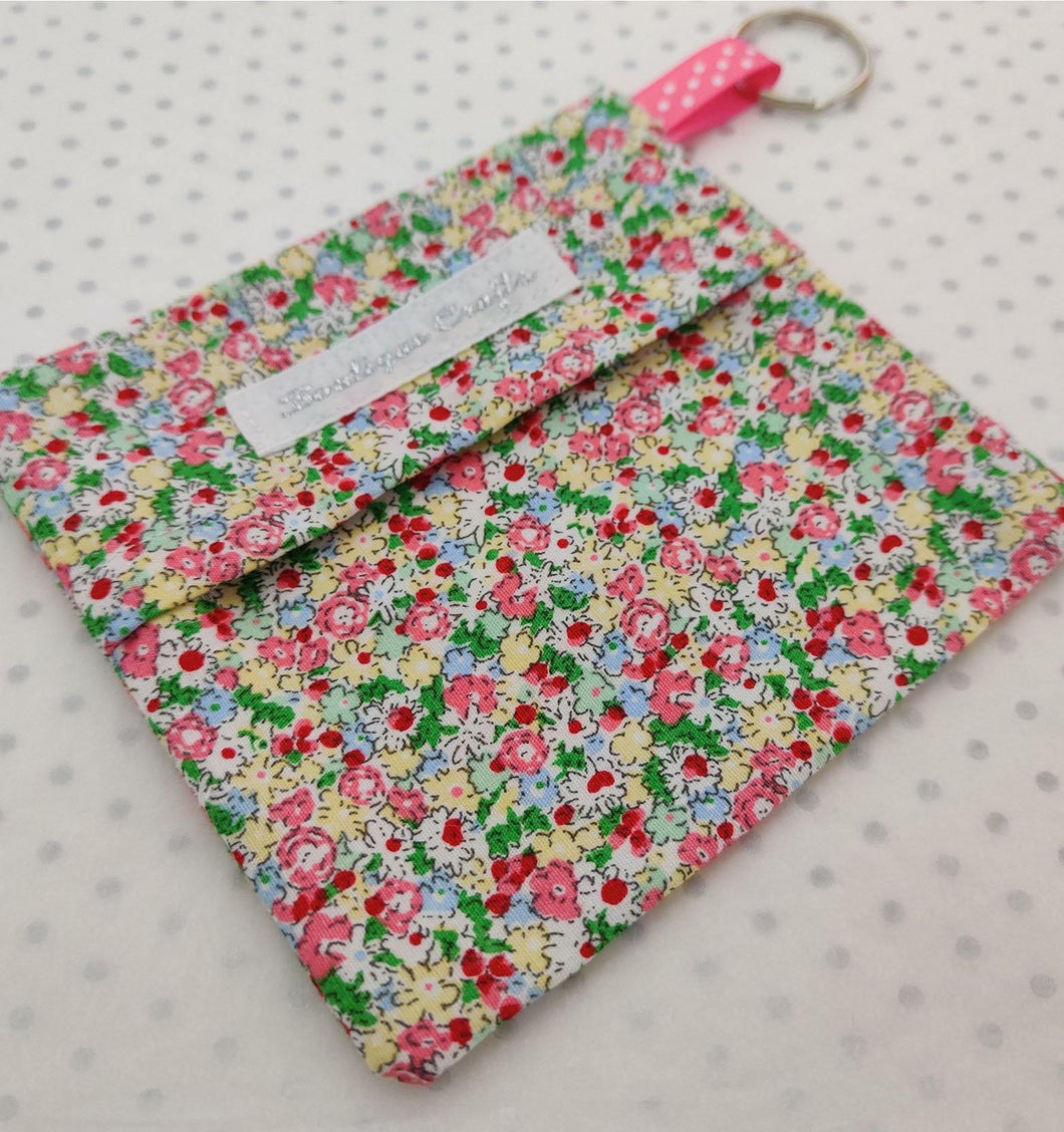 Ditsy Print Face Mask Bag Keyring