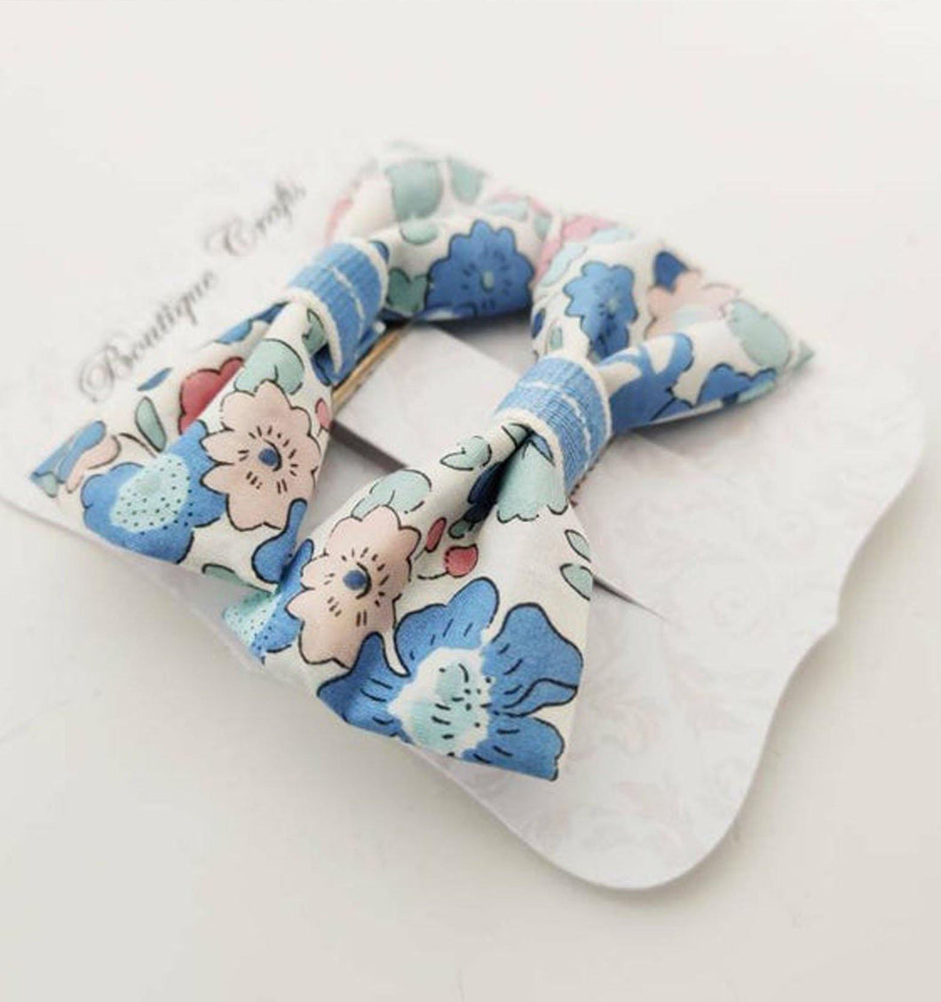 Liberty of London hair clips - Pastel Florals - BoutiqueCrafts