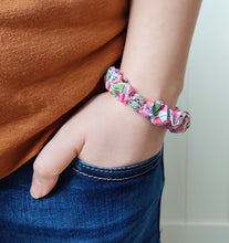 Load image into Gallery viewer, Skinny Liberty Scrunchie Bracelet - Personalised friendship positivity keepsake gift