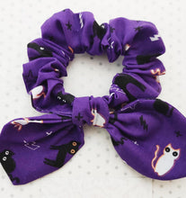 Load image into Gallery viewer, Halloween Scrunchie 2 pack set - Sugar Skulls and Cats