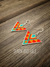 Load image into Gallery viewer, Silver sunrise earrings. Indigenous handmade