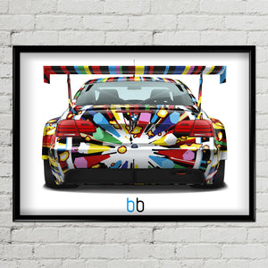 Bmw E92 M3 Gt2 Art Car-Limited Edition Poster