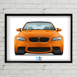 BMW E92 M3 Lime Rock Park Edition Print