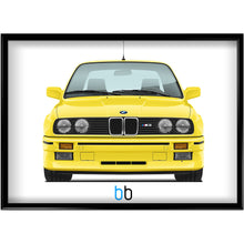 Load image into Gallery viewer, Bmw E30 M3 Print Dakar Yellow Poster