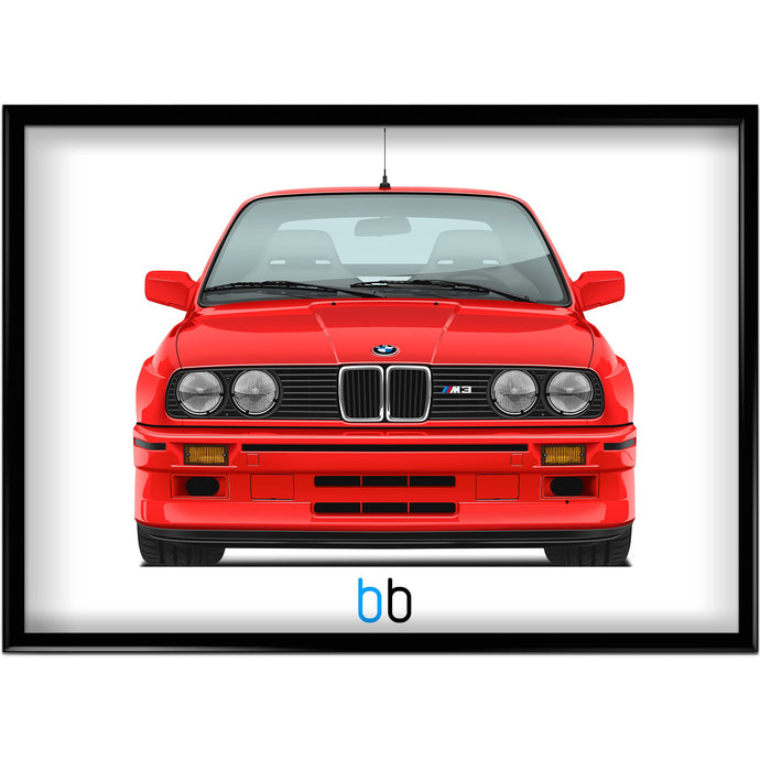 Bmw E30 Evo Iii Print-Limited Edition Poster