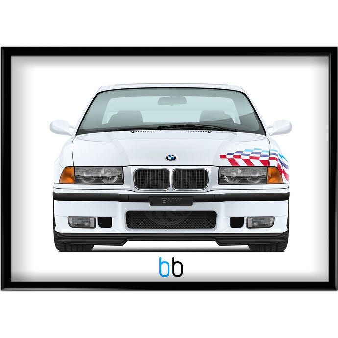 Bmw E36 M3 Ltw Print-Limited Edition Poster