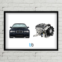 Load image into Gallery viewer, BMW E46 M3 CSL/S54B32HP Combo Print