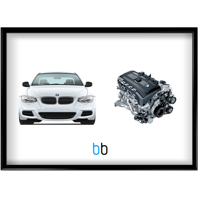 Bmw E92 335Is/n54B30 Combo Print Poster